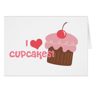 i heart cupcakes cards