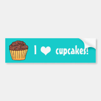 I heart Cupcakes chocolate Bumper Stickers