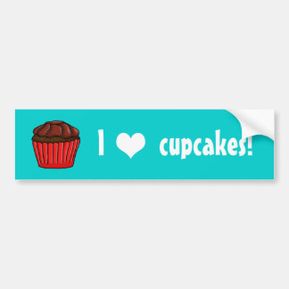 I heart Cupcakes chocolate frosting Bumper Sticker