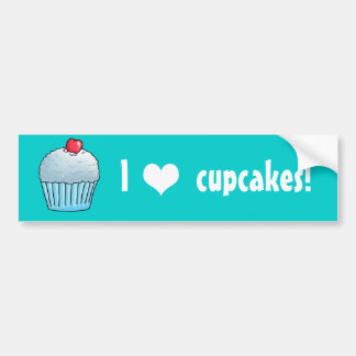 I heart Cupcakes coconut Car Bumper Sticker
