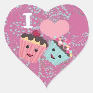 I Heart Cupcakes- I Love Cupcakes Heart Sticker