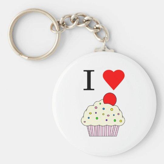 I heart Cupcakes Keychain