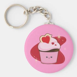 I Heart Cupcakes Basic Round Button Keychain