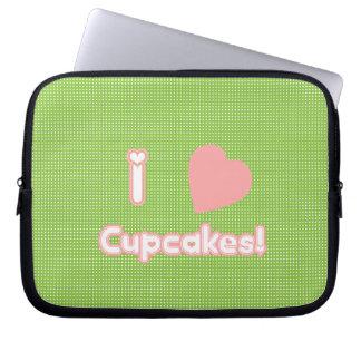 I Heart Cupcakes! Laptop Sleeve