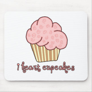 I Heart Cupcakes Mouse Pad
