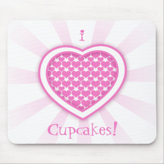 I Heart Cupcakes! Mouse Pad