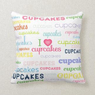 I Heart Cupcakes Pillow
