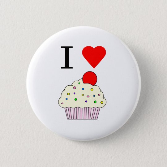 I heart Cupcakes Pinback Button