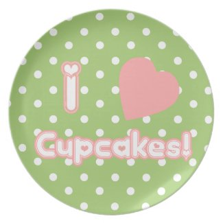 I Heart Cupcakes - Plate plate