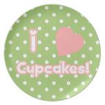 I Heart Cupcakes - Plate