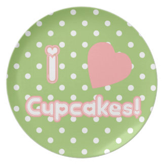 I Heart Cupcakes - Plate