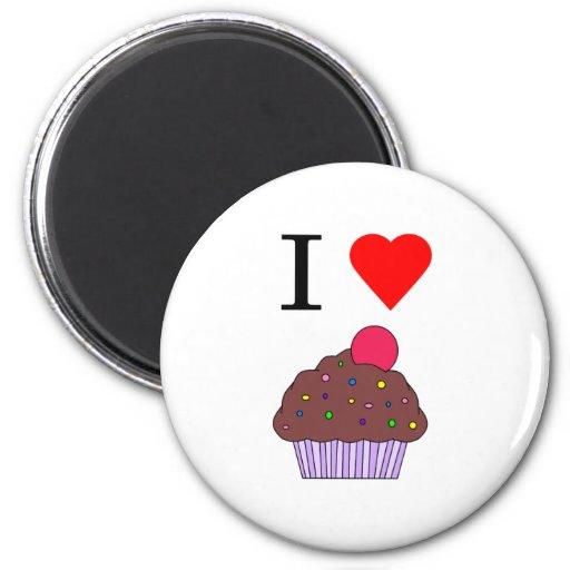 I heart cupcakes refrigerator magnet