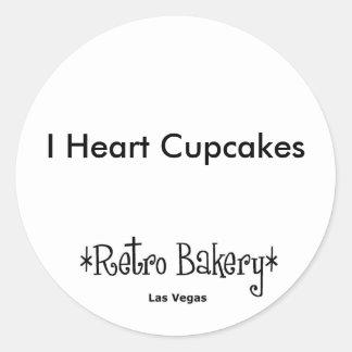 I Heart Cupcakes Sticker