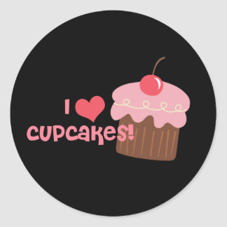 i heart cupcakes stickers
