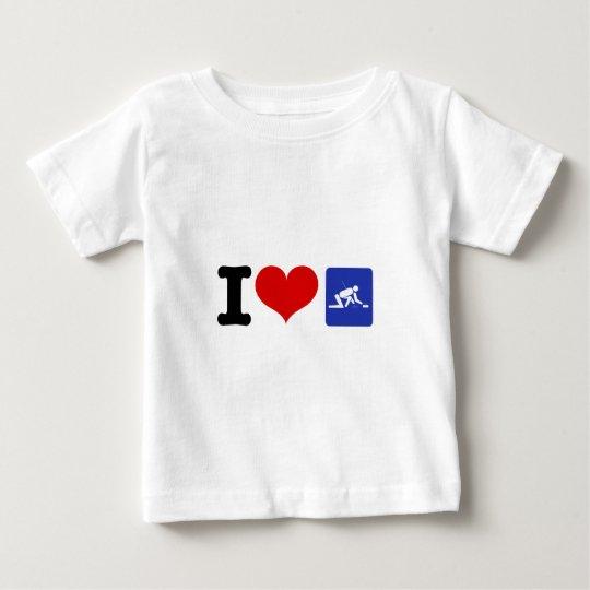 I Heart Curling Baby T-Shirt
