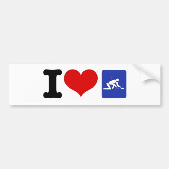 I Heart Curling Bumper Sticker