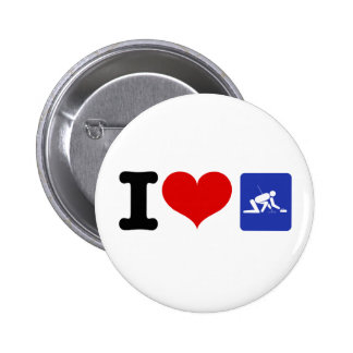 I Heart Curling 2 Inch Round Button