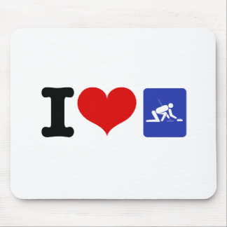 I Heart Curling Mouse Pad