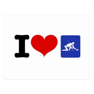 I Heart Curling Postcard