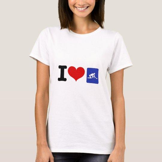 I Heart Curling T-Shirt