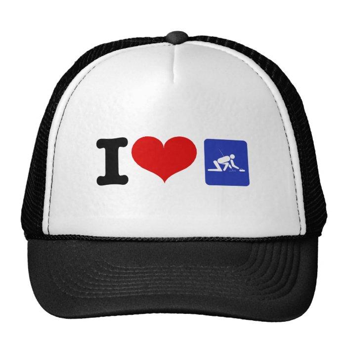 I Heart Curling Trucker Hat