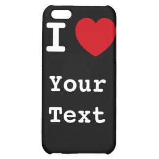 I Heart - Customize - Black Speck Case Cover For iPhone 5C