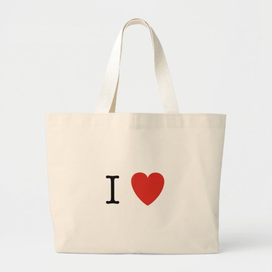 I Heart Customize Here Large Tote Bag