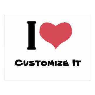 I Heart Customize It Postcard