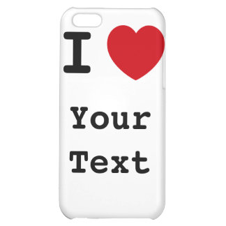 I Heart - Customize - White Speck Case iPhone 5C Cases
