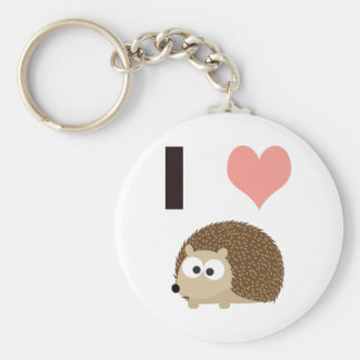 I heart cute hedgehog keychains
