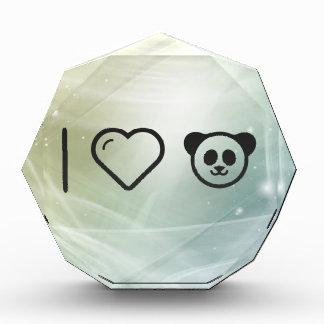 I Heart Cute Pandas Acrylic Award