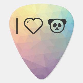 I Heart Cute Pandas Guitar Pick