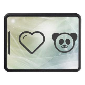 I Heart Cute Pandas Trailer Hitch Cover