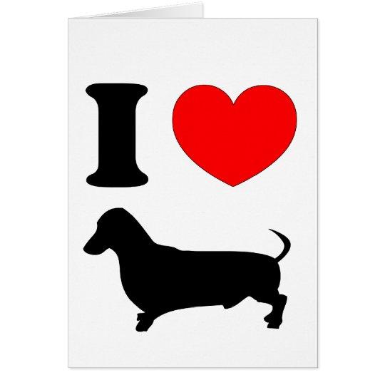 I Heart Dachshund Card