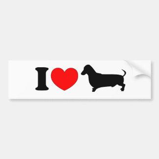 I Heart Dachshund - Landscape Car Bumper Sticker