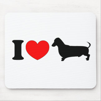 I Heart Dachshund - Landscape Mouse Pad