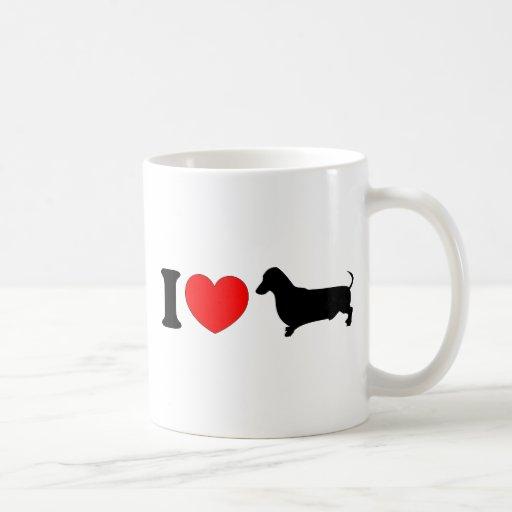 I Heart Dachshund - Landscape Coffee Mug