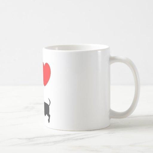 I Heart Dachshund Coffee Mugs