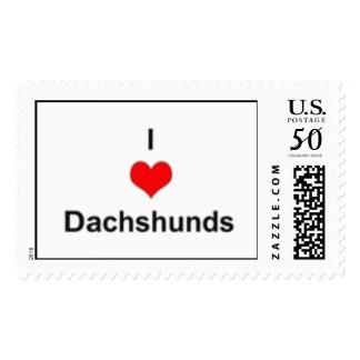I Heart Dachshunds Postage