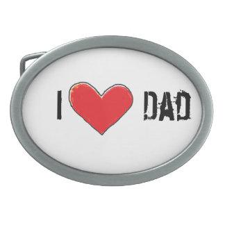 i heart dad belt buckle