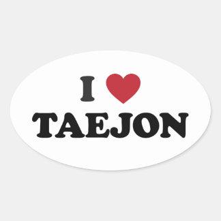 I Heart Daejeon South Korea Taejon Oval Sticker