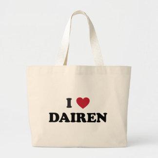 I Heart Dairen Jumbo Tote Bag