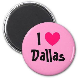 I Heart Dallas 2 Inch Round Magnet