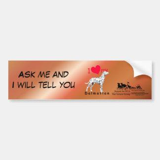 I Heart Dalmatian Car Bumper Sticker