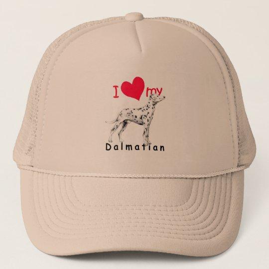 I Heart Dalmatian Trucker Hat