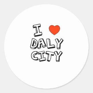 I Heart Daly City Classic Round Sticker