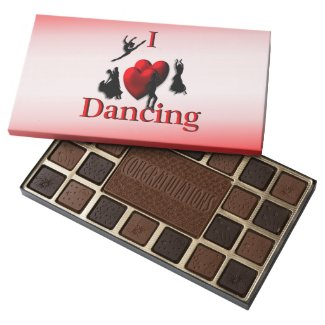 I Heart Dancing 45 Piece Box Of Chocolates