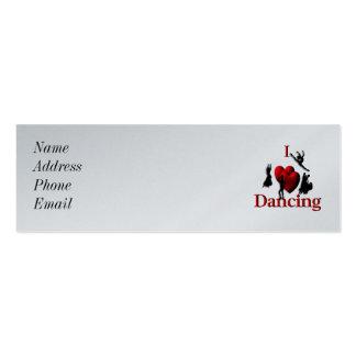 I Heart Dancing Mini Business Card