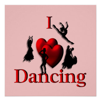 I Heart Dancing Poster