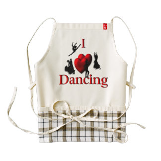 I Heart Dancing Zazzle HEART Apron